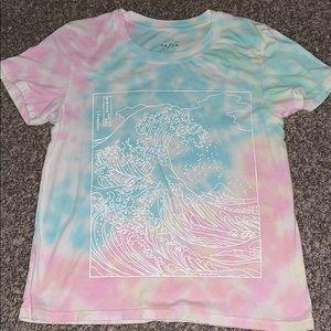 tie dye great wave top pacsun